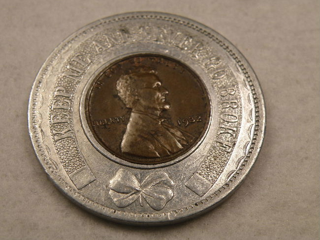 CALIFORNIA, LOS ANGELES J.H. TUCKER 1935 ENCASED CENT - Click Image to Close
