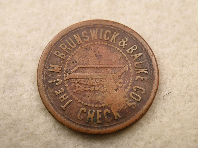 FOREST GROVE, ORE. MORT. HALLETT BB CO. 5¢ TOKEN - Click Image to Close